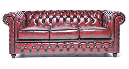 sofa chester rojo