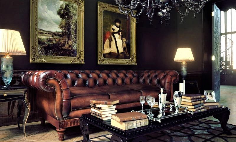 sofa chester piel