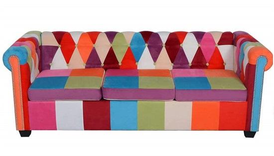 sofa chester tela colores barato