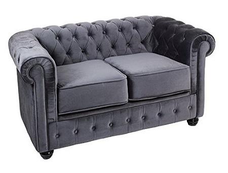 sofa chester 2 plazas terciopelo